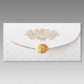 Hochwertige Einladungskarte 75. Geburtstag, Kuvertform