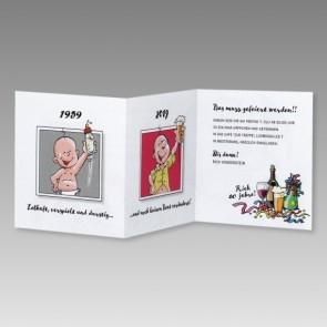 Witzige Männer Einladungskarte 60. Geburtstag mit Cartoons