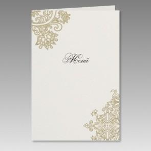 Elegante Menükarte speziell für die Goldene Hochzeit