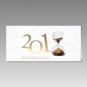 Neujahrskarte 2018 mit Sanduhr