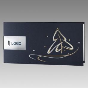 Stilvolle Weihnachtskarte, Logodruck möglich