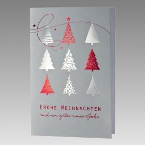 Weihnachtskarte aus Silbermetallic-Karton
