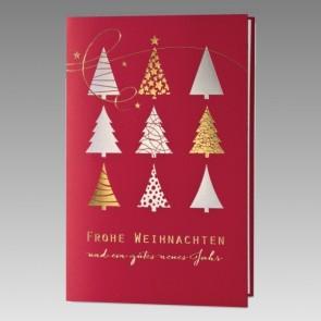 Weihnachtskarte aus rotem Karton