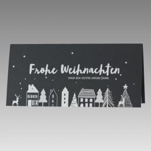 Graue Weihnachtskarte mit kindlichen Zeichnungen