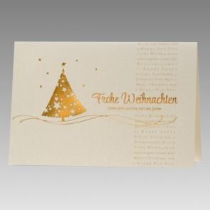 Weihnachtskarte aus Goldmetallic-Karton
