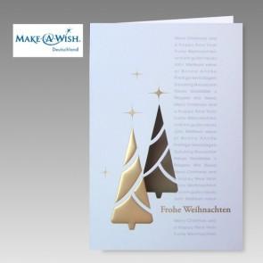 Internationale Spendenkarte zugunsten Make a Wish