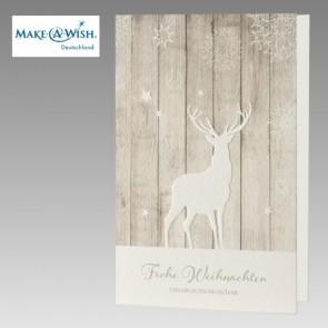 Weihnachtliche Spendenkarte für Make a Wish