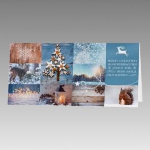 Schöne Weihnachtskarte, mehrsprachig