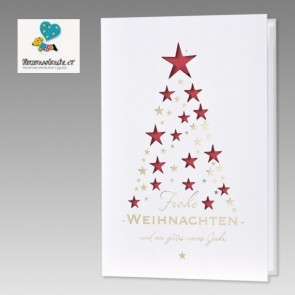 Spenden-Weihnachtskarte für Herzenswünsche im Sternedesign