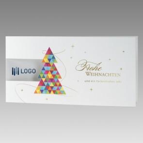 Weiße Weihnachtskarte für Unternehmen