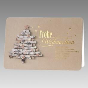 Liebevoll gestaltete Weihnachtskarte
