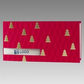 Rot geprägte Weihnachtskarte