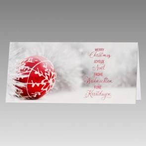 Weihnachtskarte in klassischer Optik
