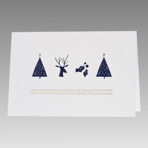 Weiße Weihnachtskarte schlichtes Design