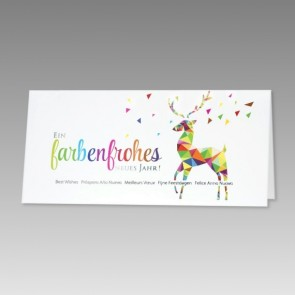 Schöne Neujahrskarte im bunten Design