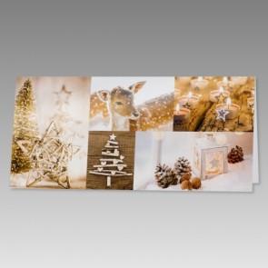 Neutrale Grußkarte für Weihnachten oder Neujahr