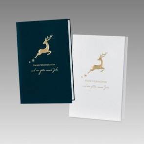 Stilvolle Weihnachtskarte, zwei Farben