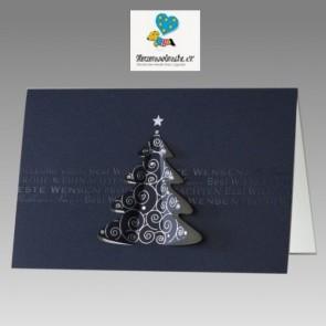 Internationale Spenden-Weihnachtskarte in blau, Herzenswünsche eV.