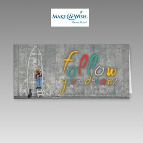 Weihnachtskarte für Make a Wish mit Kinderträumen