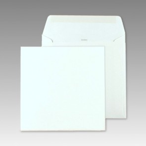 Weißer Breitklappenumschlag, quadratisch