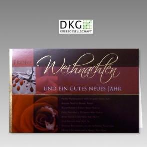Weihnachtskarte mit Spende elegantes Design