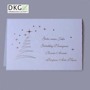 Edle Bütten Weihnachtskarte mit Spende an Deutsche Krebsgesellschaft
