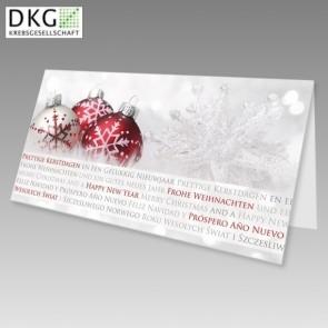 Guter Zweck Weihnachtskarte mit Spende an DKG
