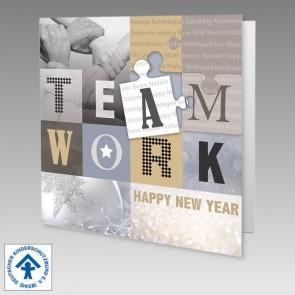 Deutscher Kinderschutzbund Teamwork Weihnachtskarte mit Spende