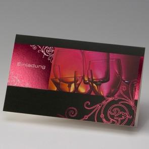 Preiswerte, kreative Einladungskarte