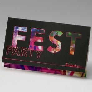 Geburtstags-und Partyeinladung