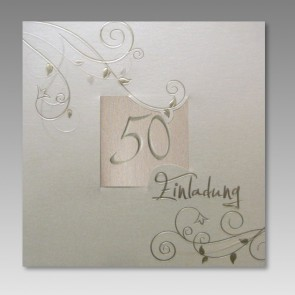 Einladungskarte Ehejubiläum Goldene Hochzeit