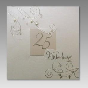 Einladungskarte Ehejubiläum Silberhochzeit
