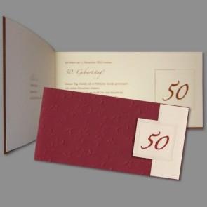 Rote Geburtstag Einladung zum 50.