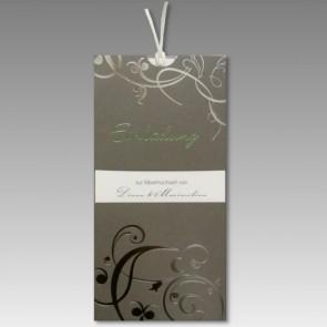 Einladung zur Silbernen Hochzeit mit Stil