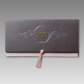 Edle Einladung zum 70. Geburtstag mit Schleife