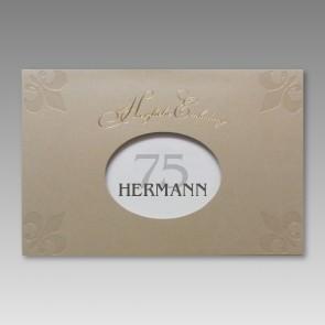 Einladung zum 75. Geburtstag in attraktivem Design