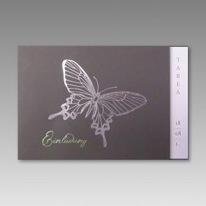 Einladungskarte zur Kommunion mit Schmetterling, günstig
