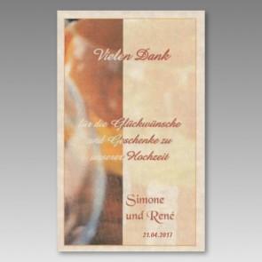 Individualisiertes Hochzeitsweinetikett mit vielen Dank
