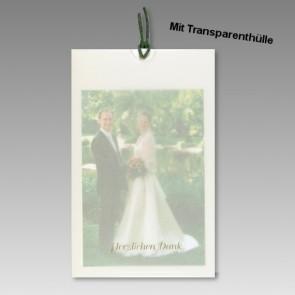 Danksagungskarte Hochzeit mit Dankestext
