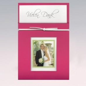 Dankeskarte zur Hochzeit, pink