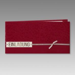 Einladung Kommunion in elegantem Rot