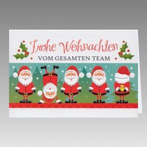 Witzige Team Weihnachtskarte