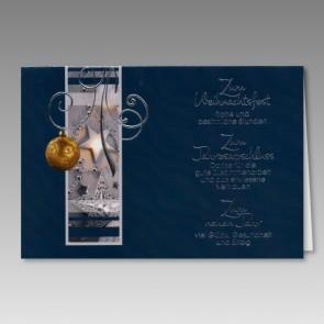 Geschäftliche Weihnachtskarte mit Dank für Zusammenarbeit