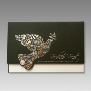 Hochwertige Weihnachtskarte mit Friedenstaube