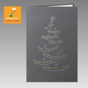 Graue, internationale Spenden Weihnachtskarte Peter Maffay Stiftung