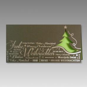 Geschäftliche Weihnachtskarte, mehrsprachig