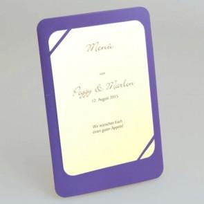 Hochzeit Menükarte in violett / lila