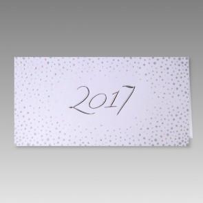 Neujahrskarte mit 2017 in Silbermetallic