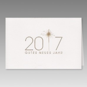 Neujahrskarte mit gutes neues Jahr 2017