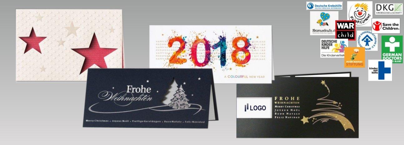 Weihnachtskarten mit Spende